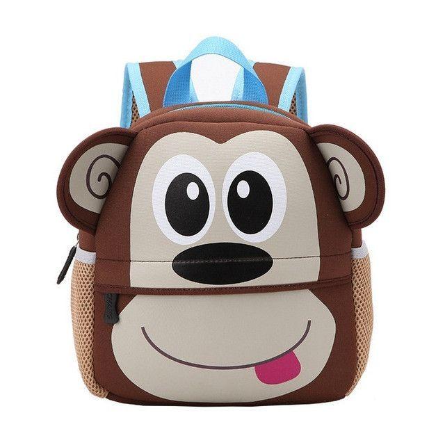 10cdf85ab4b9 Children 3D Cute Animal Design Backpack Toddler Kid Neoprene School Bags  Kindergarten Cartoon Comfortable Bag Giraffe Monkey Owl