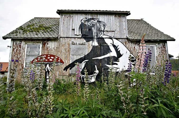 Norway, Lofoten. Graffiti Makeover by Pøbel and Dolk.