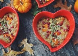 breakfast criminals: pumpkin chia pudding with persimmon