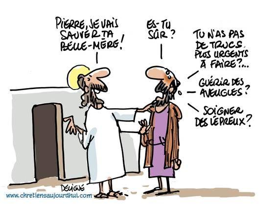 La belle-mère de Pierre | Humour chrétien, Chrétien et La ...