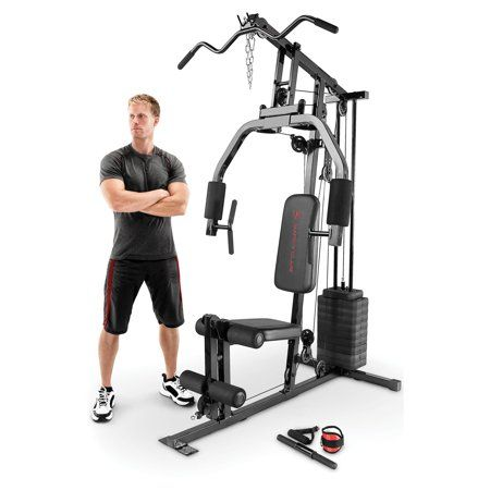 marcy 100 lb stack home gym mkm81030  no equipment