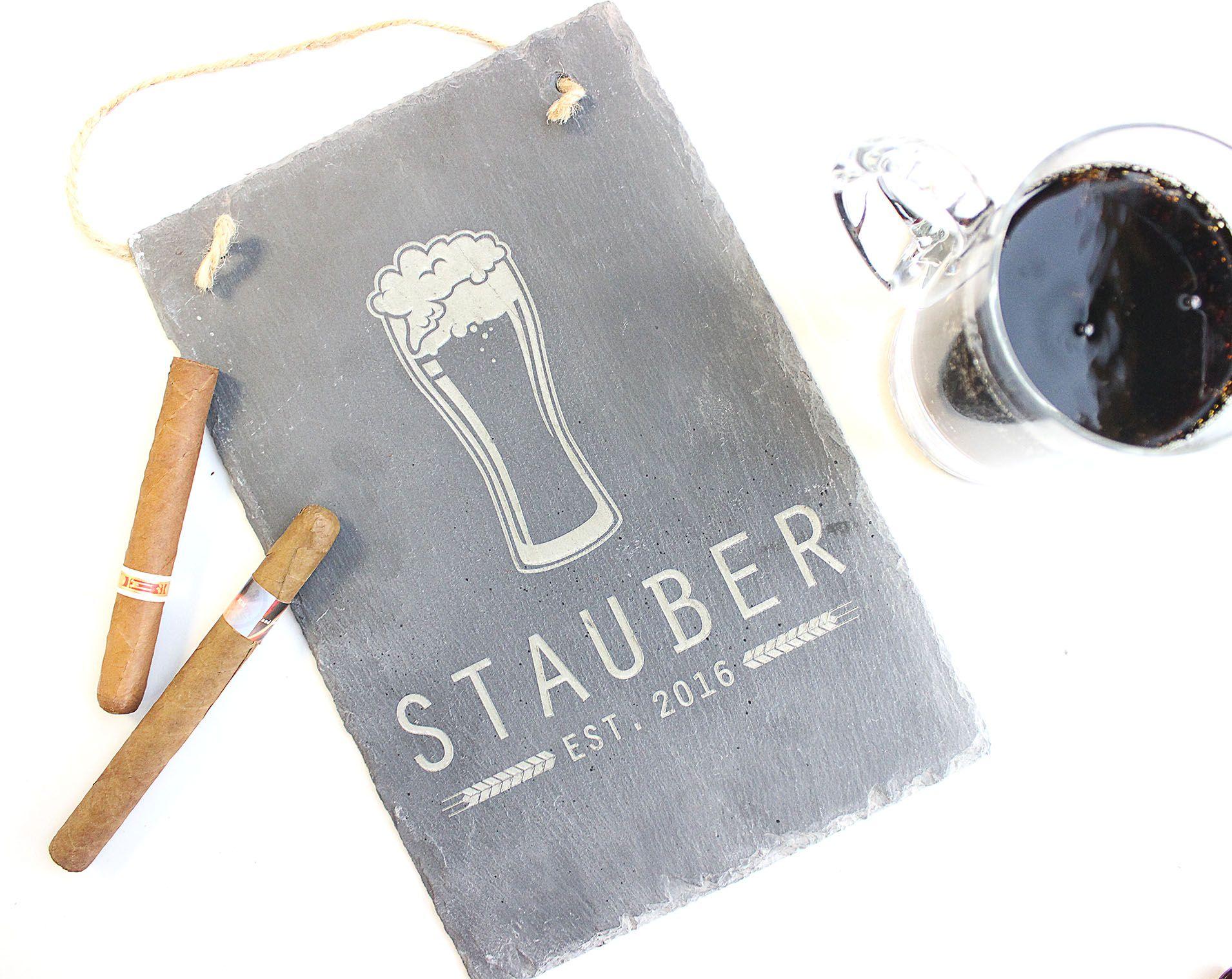 Custom Engraved Beer Slate Signs Perfect For Bars Custom Bar