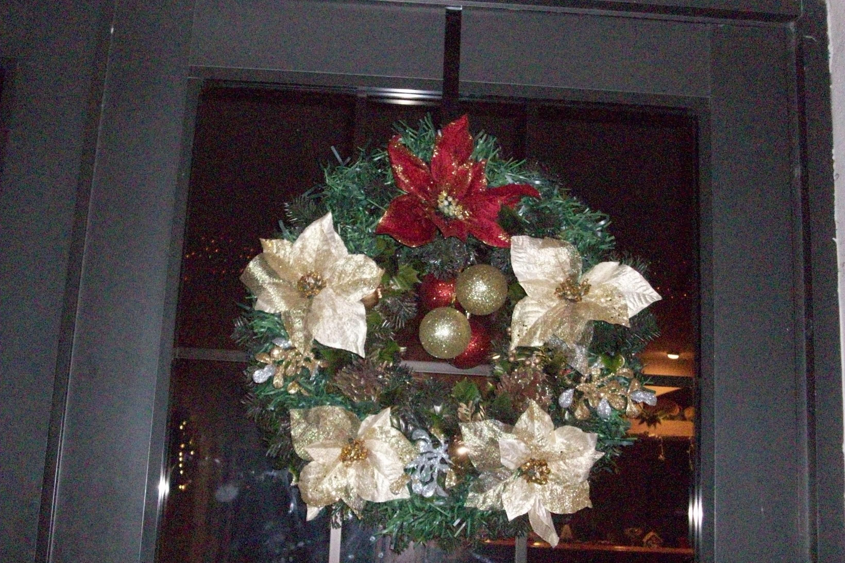 One of my Christmas wreaths