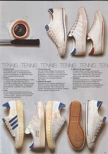 Catalogue Showing Adidas Tennis Various ShoesRock Scan From 1975 PZiuOkX