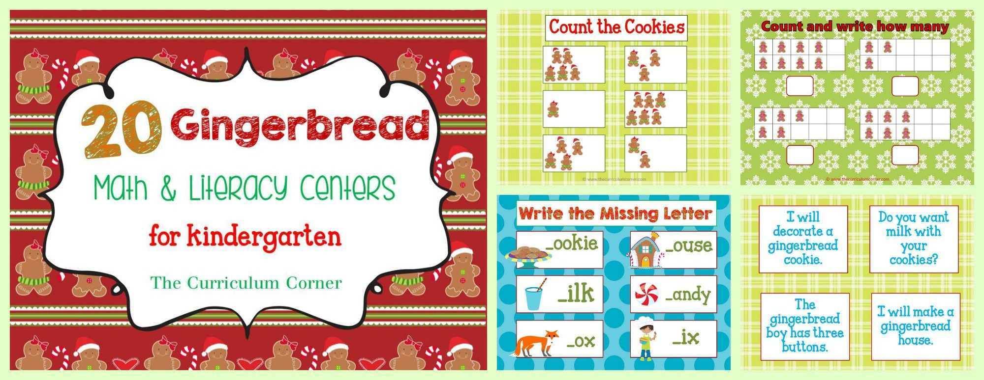Gingerbread Man Centers