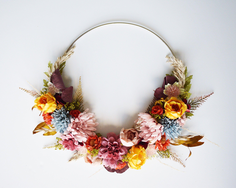 Photo of Hoop Kranz getrocknete Blume Herbst Herbst Home Decor Hochzeitsdekoration Holiday Decor Geschenk
