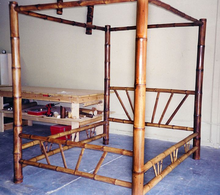 Bamboo four-poster canopy bed. Made to order. & Bamboo four-poster canopy bed. Made to order. | British Colonial ...