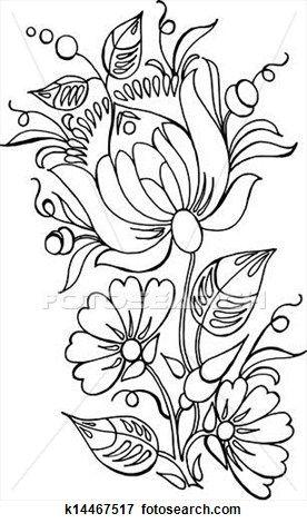 Flowers Clip Art   Для Квилта: Hungarian & East Europian ...