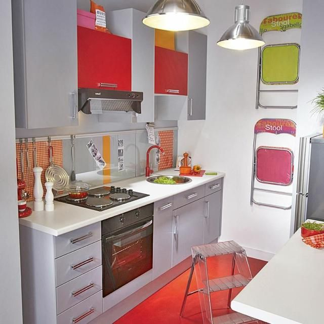 la kitchenette moderne quip e et sur optimis e cuisine pinterest petite cuisine. Black Bedroom Furniture Sets. Home Design Ideas
