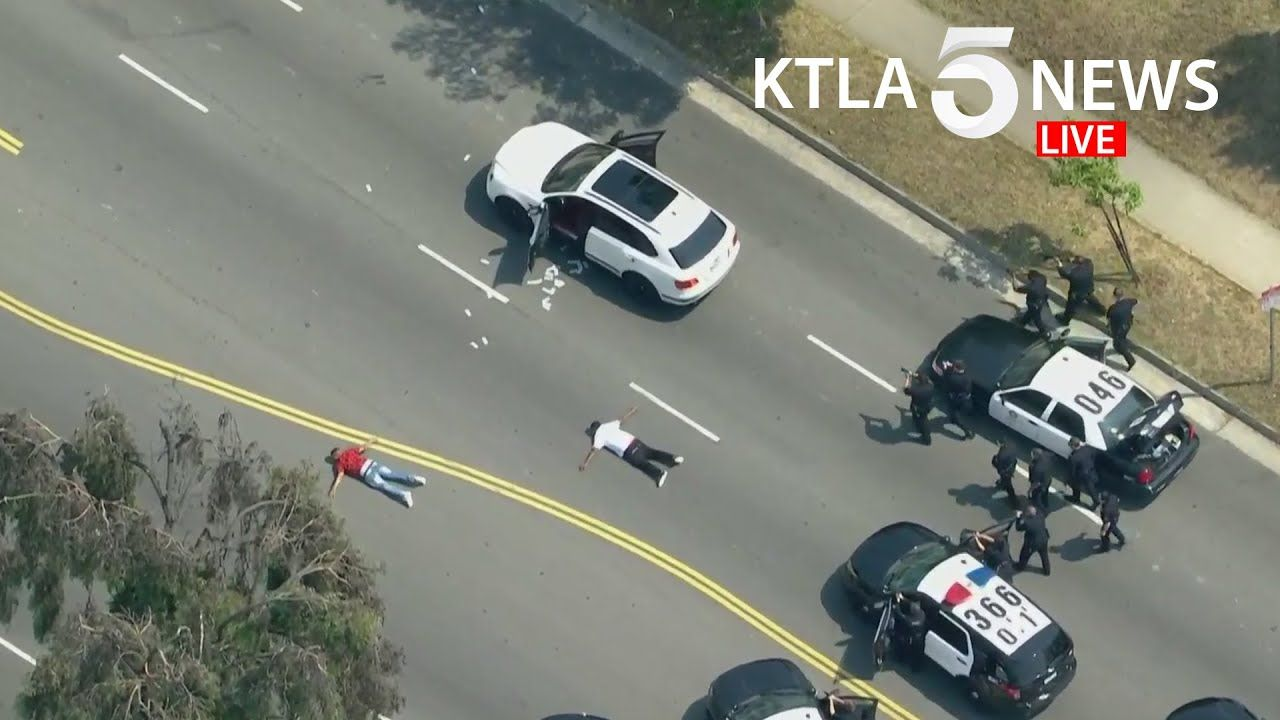 Shooting Suspect In Custody After Police Pursuit In Mid Wilshire Area Of Mid Wilshire Police Wilshire