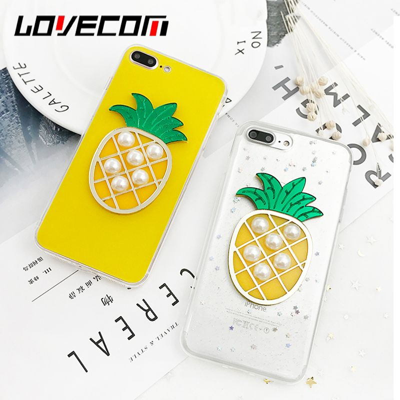 sale retailer 6fdbd c69de LOVECOM Cute DIY Pearl Pineapple Phone Cases For Apple iPhone 6 6S 7 ...