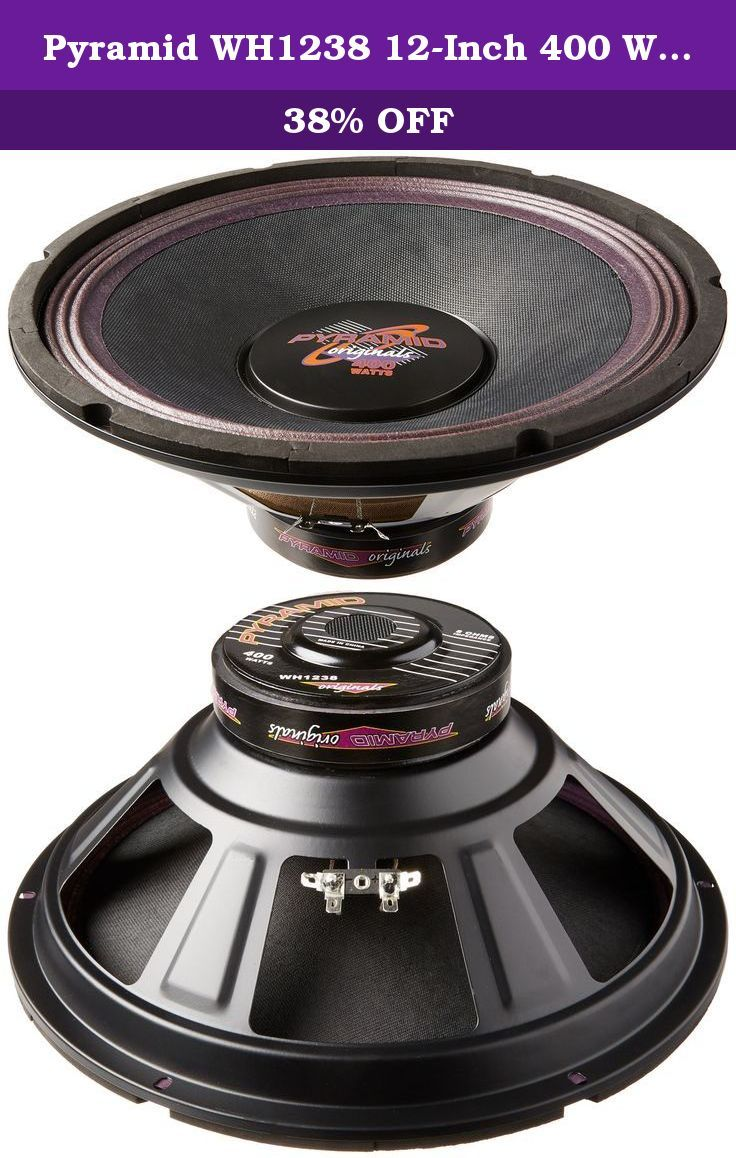 Pyramid Wh1238 12 Inch 400 Watt High Power Paper Cone 8 Ohm Subwoofer Bumped And Vented Motor Structurespecially Treated Purple Paper Cones Subwoofer Pyramids