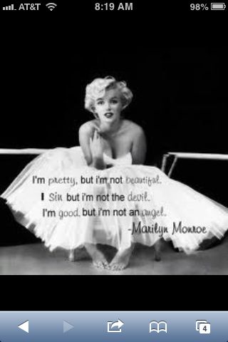 Beautiful Quote Famous People Wise Quotes Marilyn Monroe