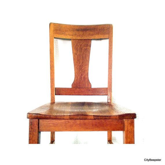 The Downing Street Executive Curio Desk: Vintage School Teacher's Chair