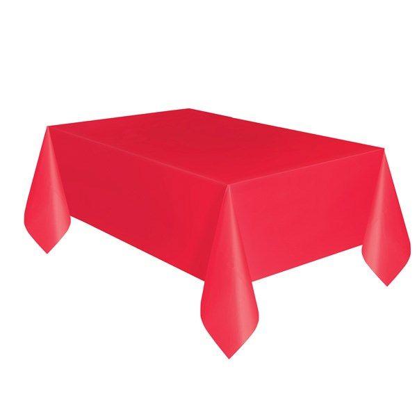 Rød Aflang Plastikdug - Single