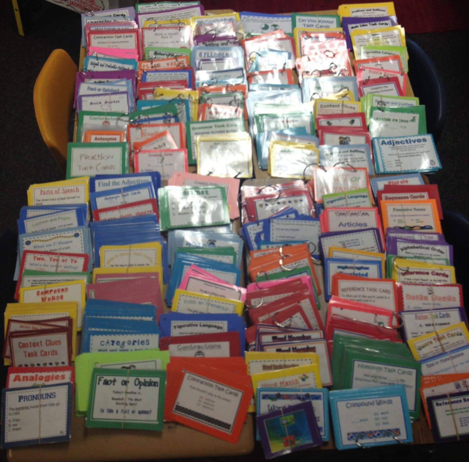 Wow! Motherload of task cards :)