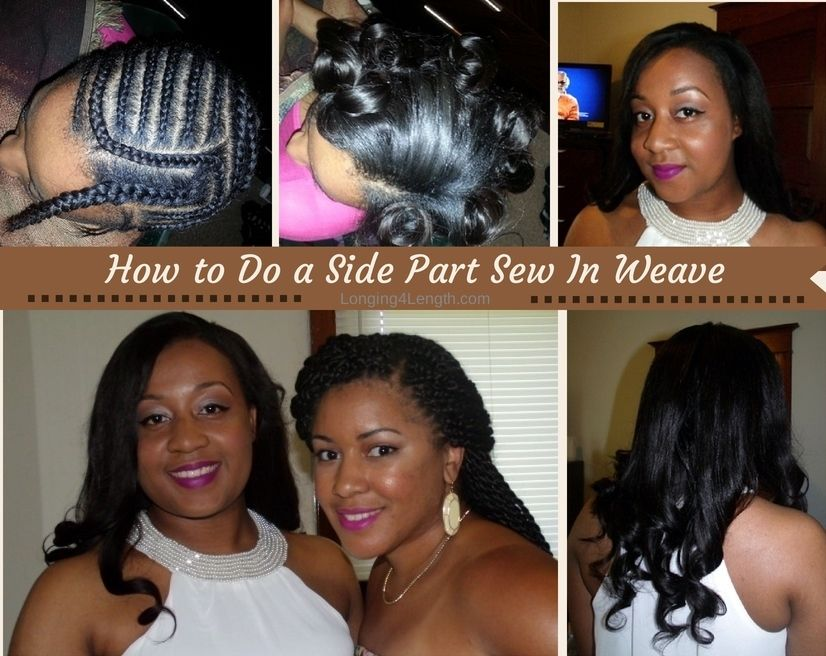 Side Part Weave With Leave Out Tutorial Including Braid Pattern Gorgeous Side Part Sew In Braid Pattern