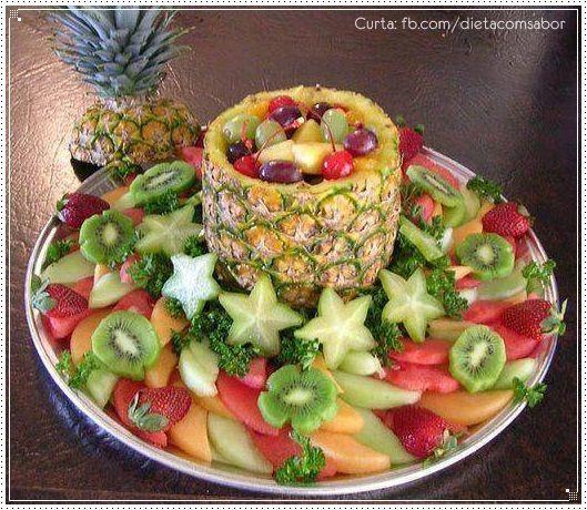 Frutas aperitivo e decoraç u00e3o Queijo fresco, Ano novo e Cores vibrantes -> Como Decorar Frutas Para Ano Novo