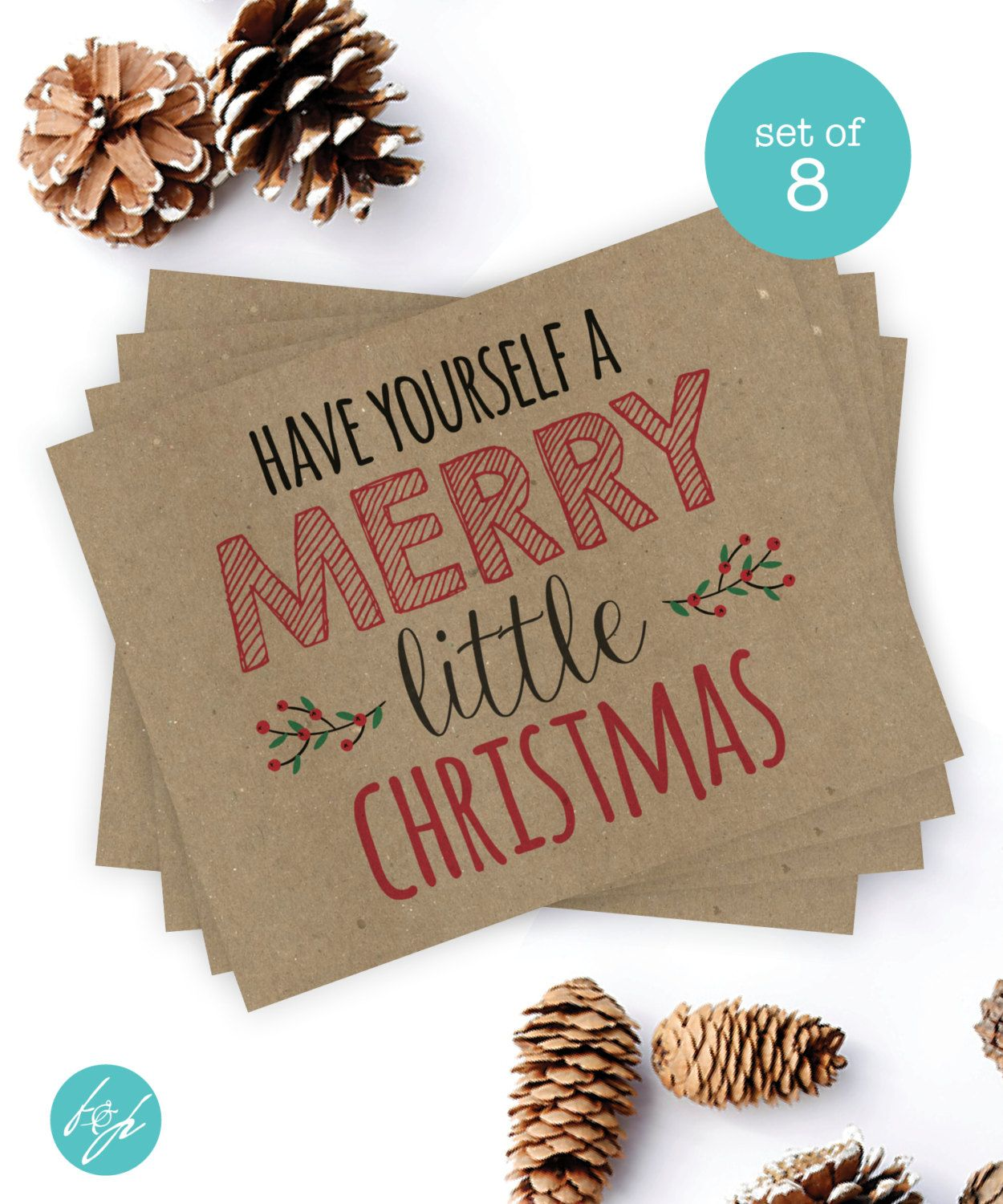 Christmas Card Set - \'Have Yourself a Merry Little Christmas\' (Set ...