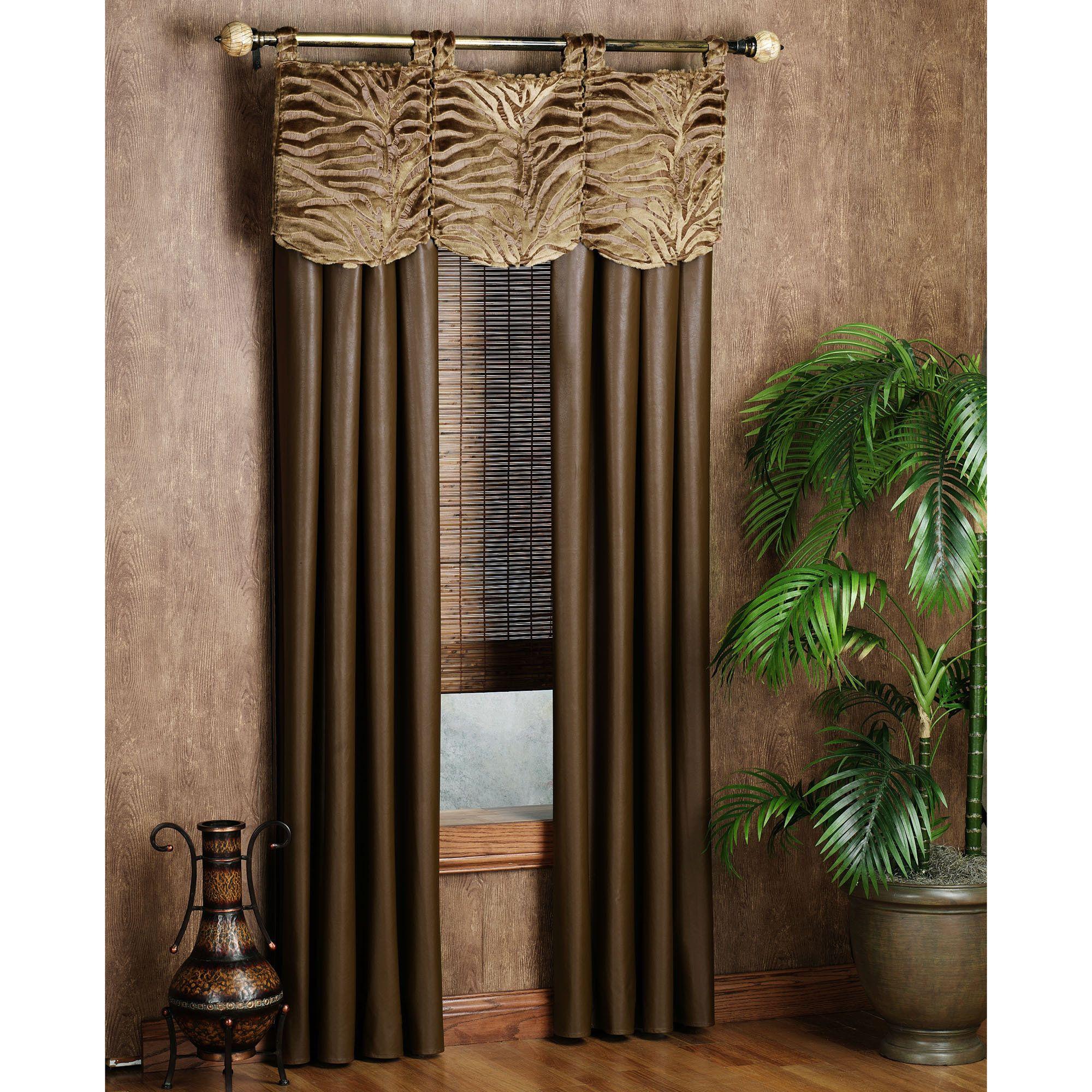 safari window treatment... Love the wallpaper! | Home | Pinterest ...