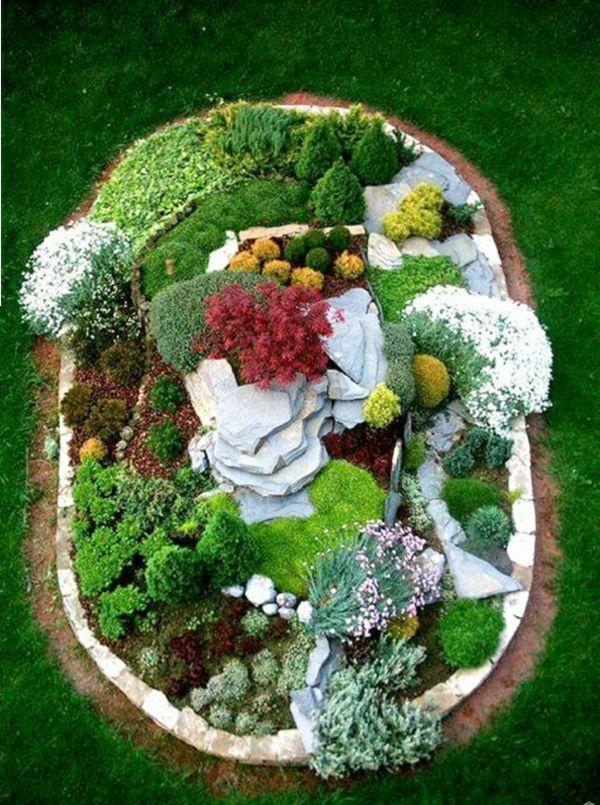 100 Bilder zur Gartengestaltung - die Kunst die Natur zu - moderne steingarten bilder