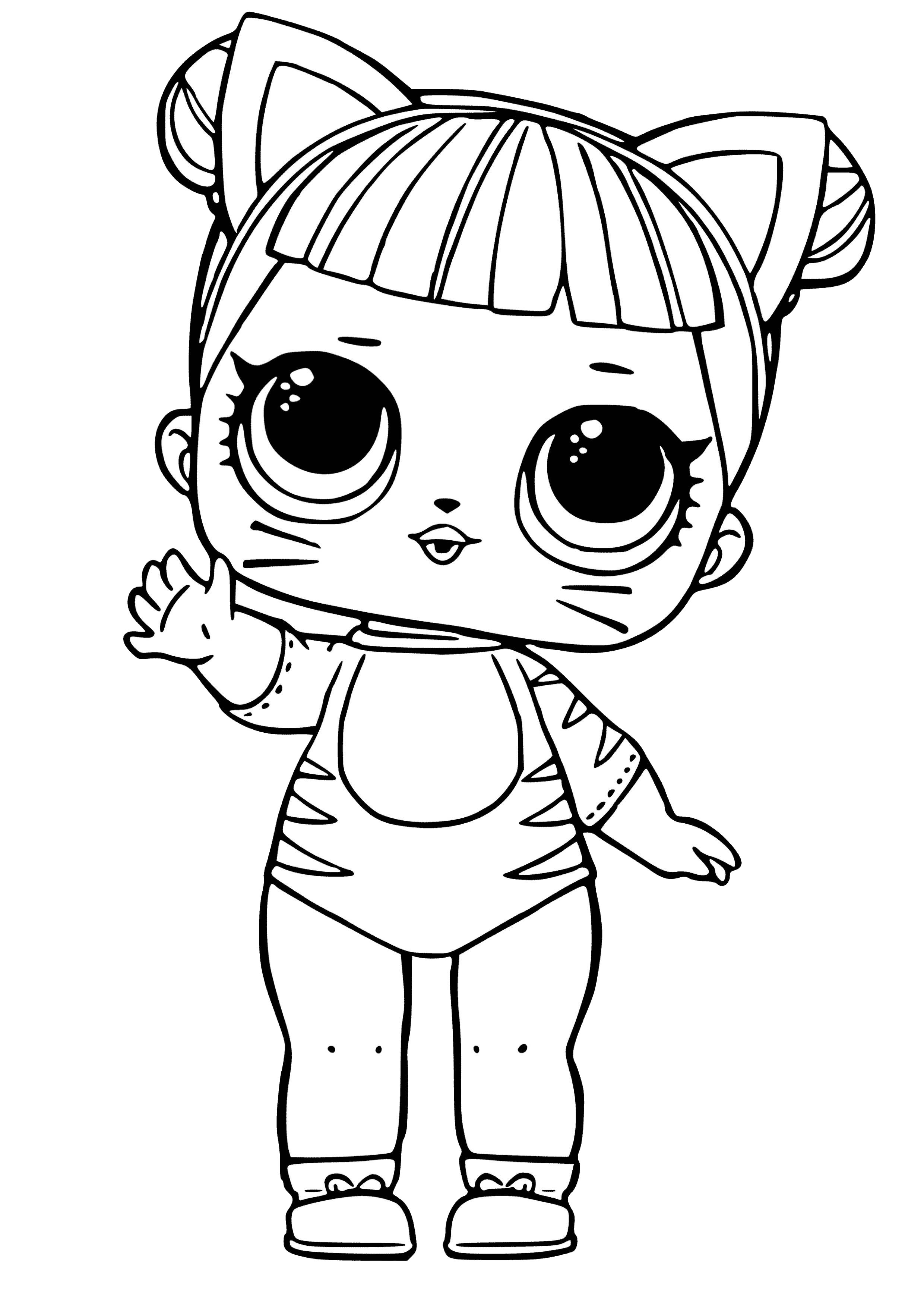 Lol Coloring Page Lol Surprise Cute Coloring Pages Cat