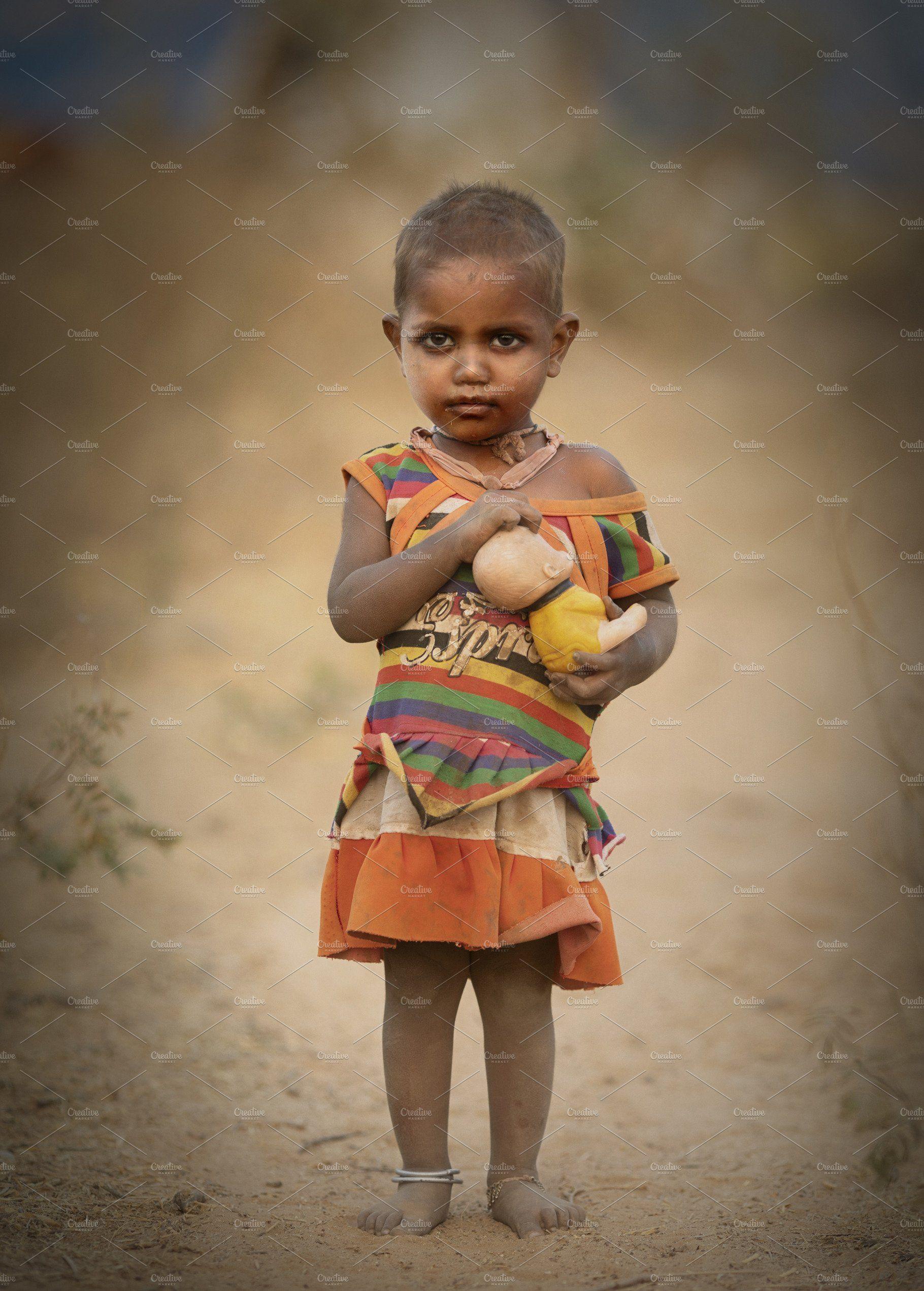 Indian Poverty Little Girl Little Girls Poverty Girls Play