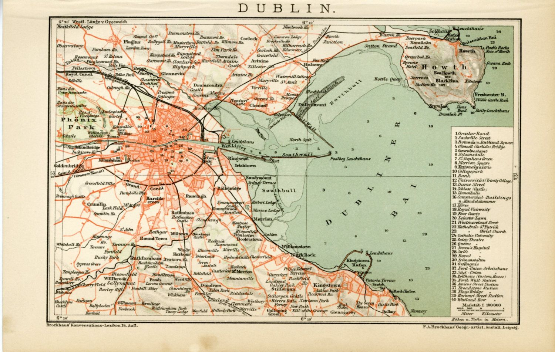 Printable Map of Dublin Ireland