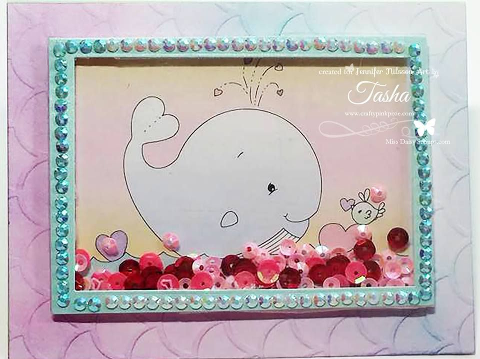 Whale You Be Mine - Jennifer Nilsson Art on card sample designed by - Sample Cards