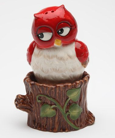 Look at this #zulilyfind! Owl & Tree Salt & Pepper Shakers by Sugar High Social #zulilyfinds