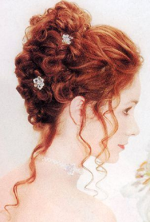 Curly Wedding Hairstyle For Long Hair Curly Wedding Hair Long Hair Styles Curly Hair Styles