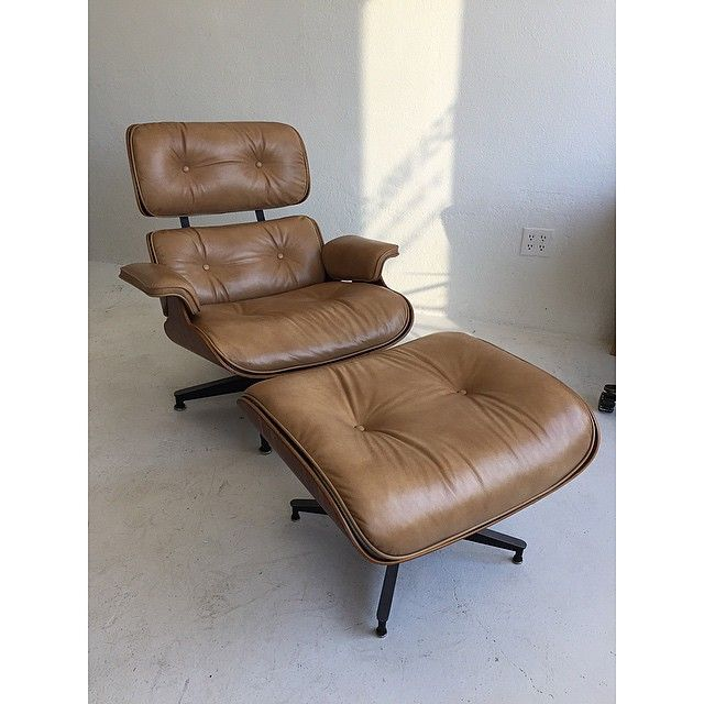 New leather and refinished. #fresh #denmobler #eamesloungechair #hermanmiller #midcenturymodern
