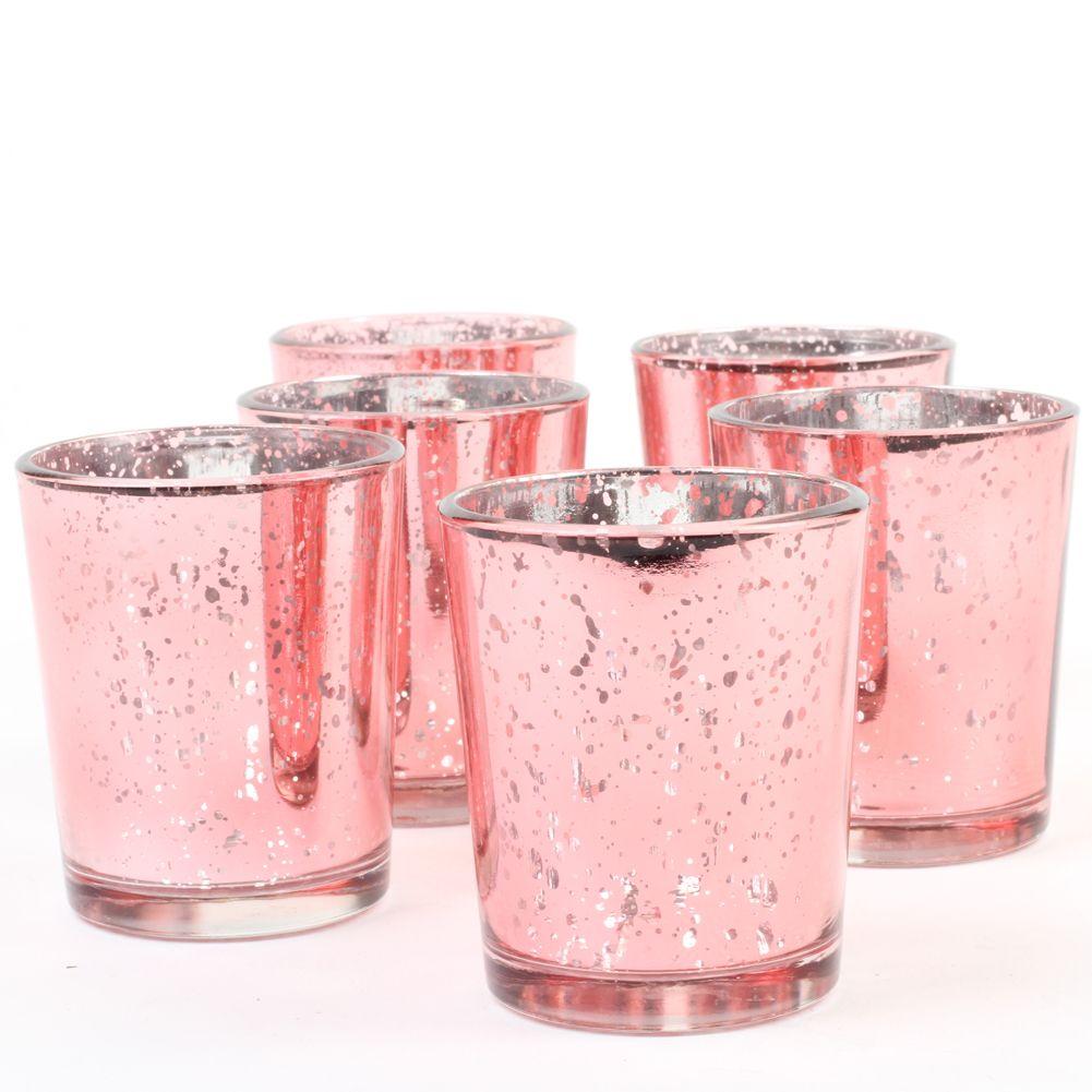 Koyal Wholesale Blush Pink Votive Candle Holders Mercury Glass ...