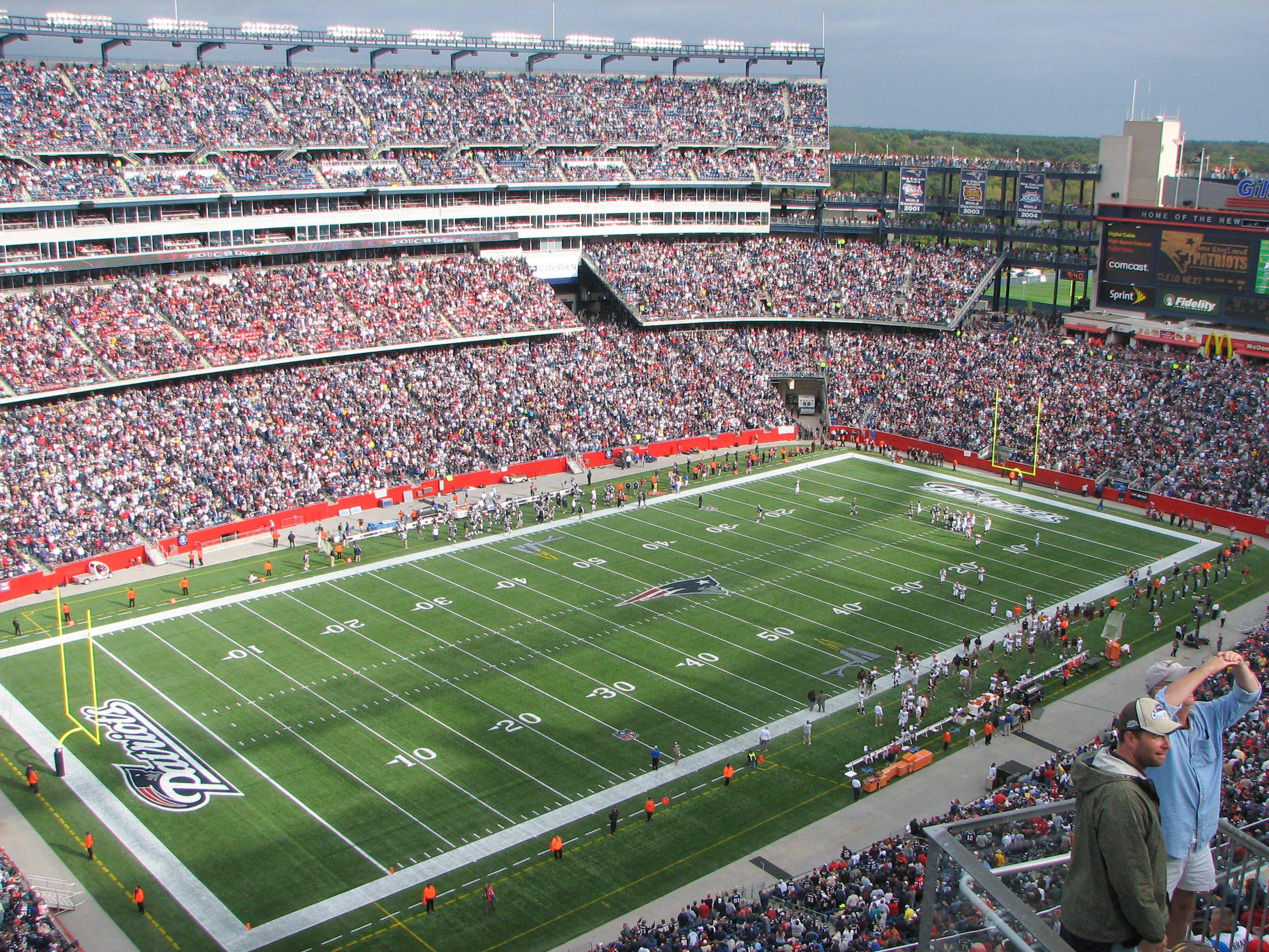 777eae9165d Gillette Stadium - Foxboro, Massachusetts home of the New England Patriots.  Boston