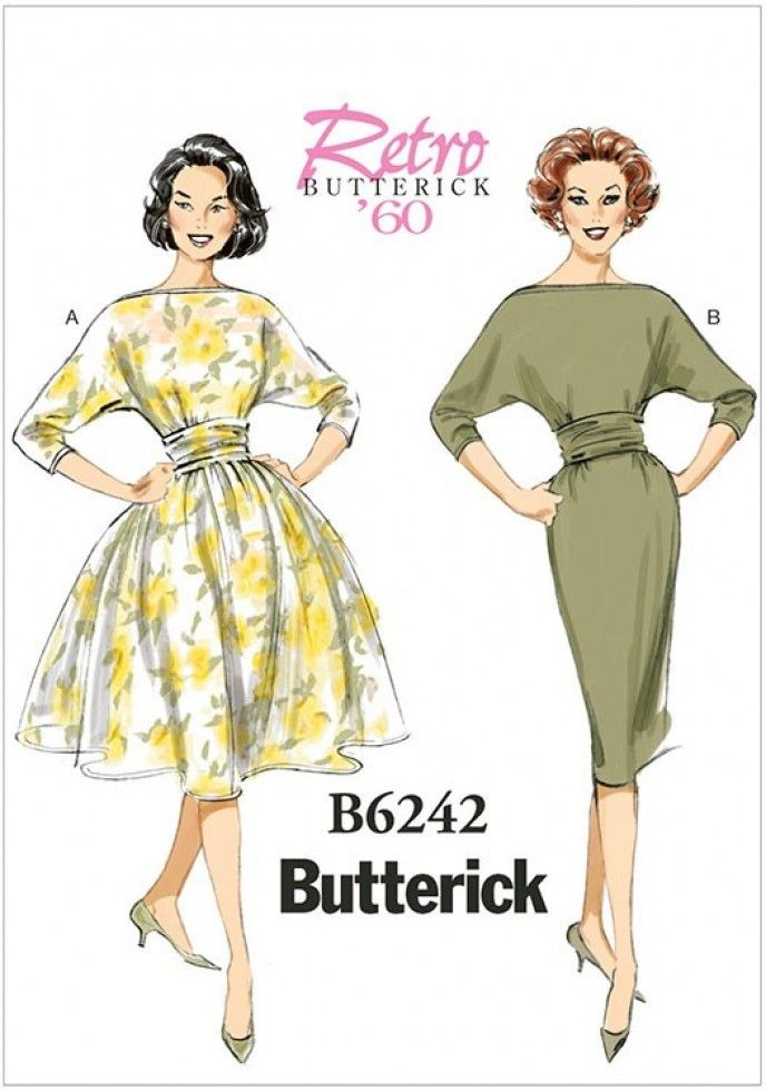 Butterick Ladies Sewing Pattern 6242 Vintage Style Dresses | Sewing ...