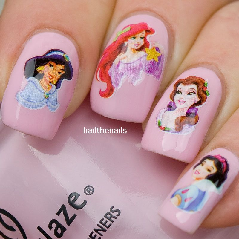 Nail Wraps Art Water Transfers Decals Disney Princesses Yd022
