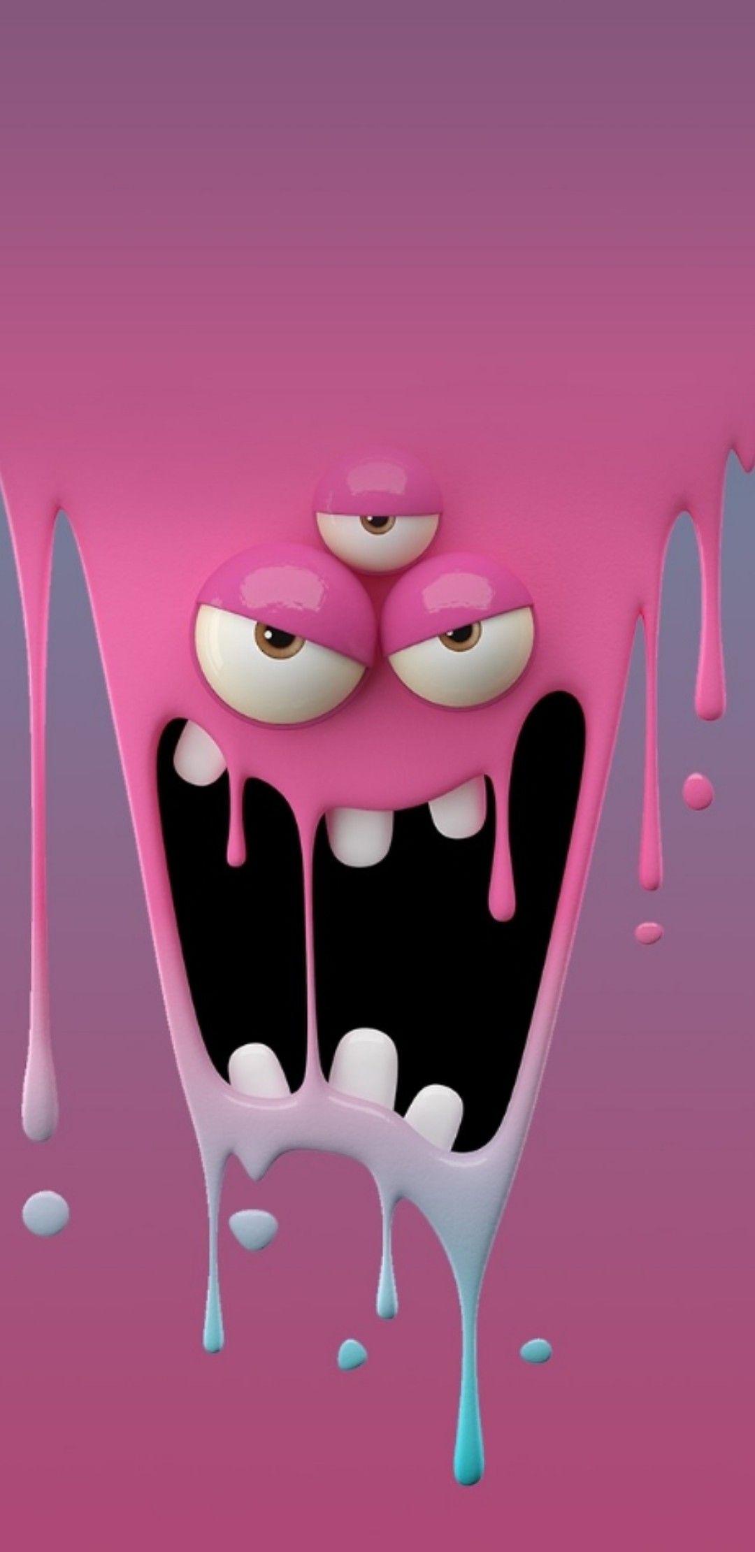 Monster Funny Iphone Wallpaper Cartoon Wallpaper Hd Emoji Wallpaper