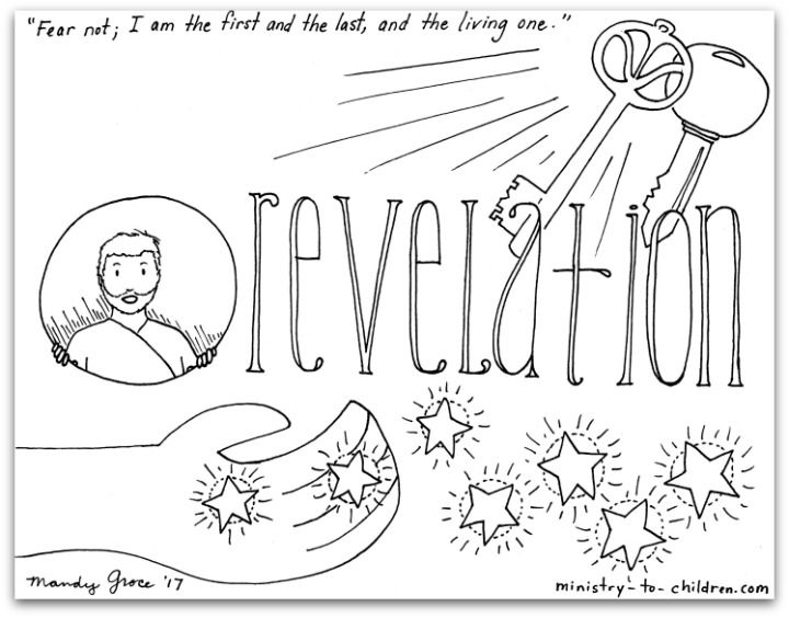 Book Of Revelation Coloring Page Bible Coloring Pages Bible Coloring Revelation Bible