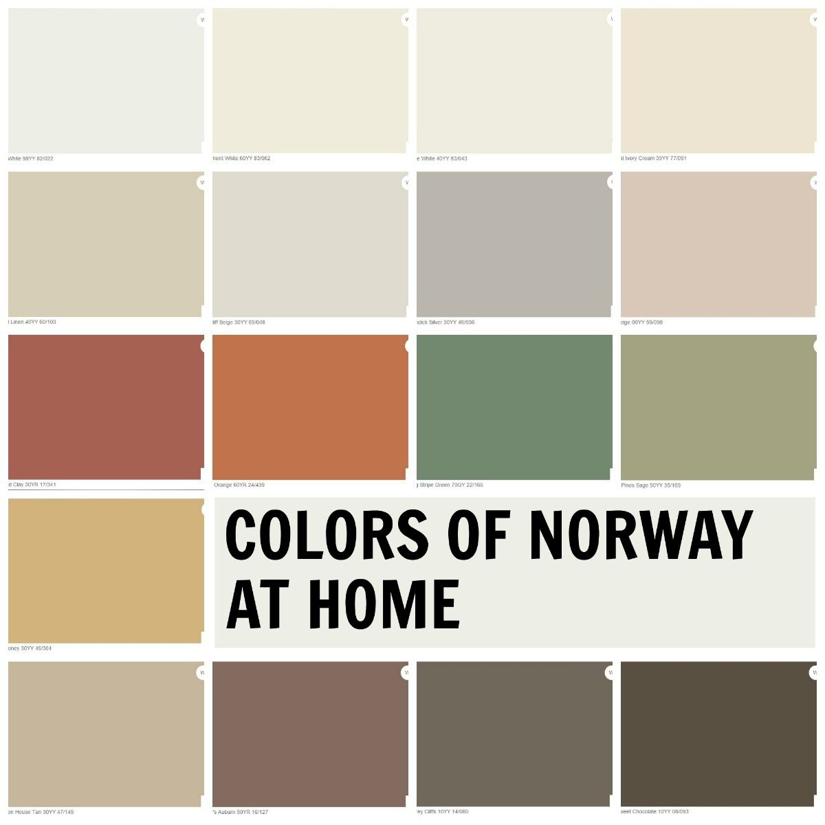 Colors of Norway at Home Palette The perfect combination for our
