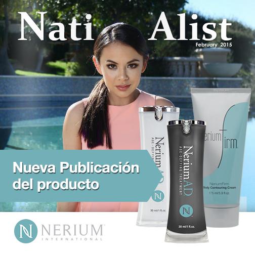 NeriumAD y NeriumFirm aparecen en la publicación de febrero 2015 de Nationalist Magazine: