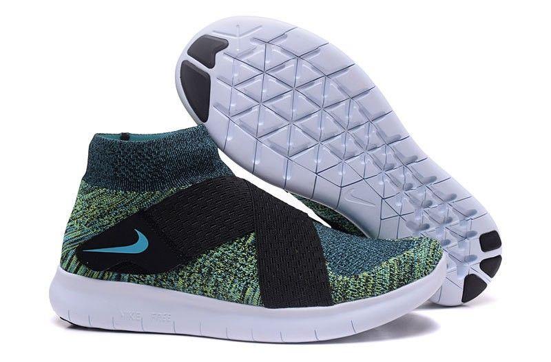 innovative design 31381 2f587 Nike Free RN Motion Flyknit 2017 Men s Running Shoe Green Black