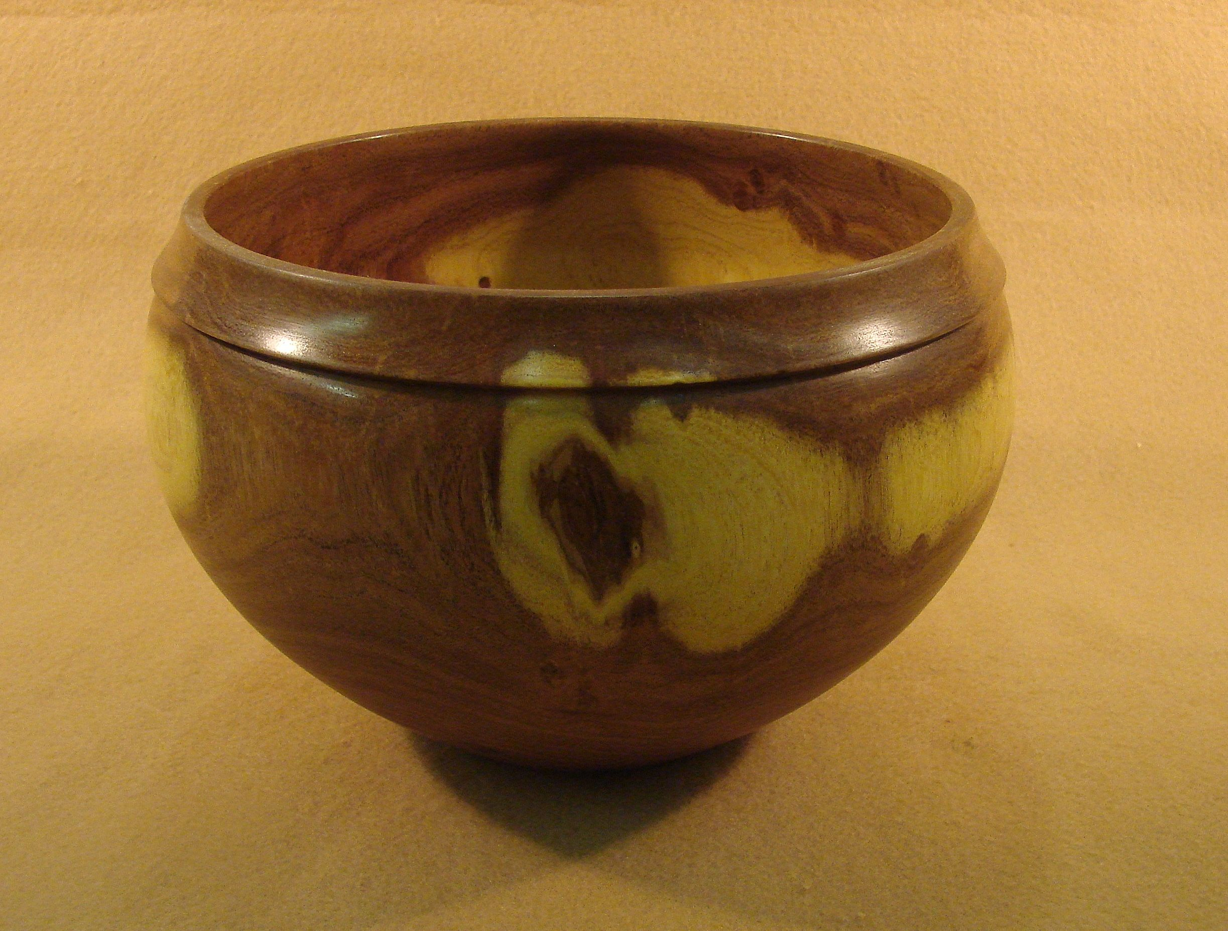 Lathe Turned Bowl Of Mesquite 8 1 2 In Dia By 5 1 2 In Height