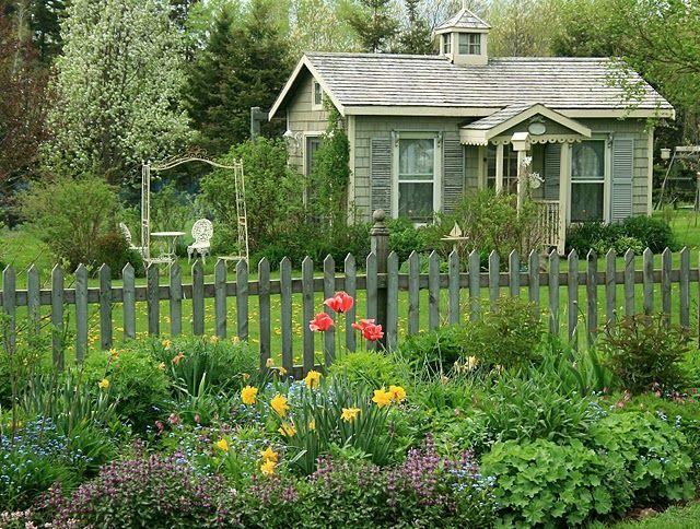 Established flower bed.