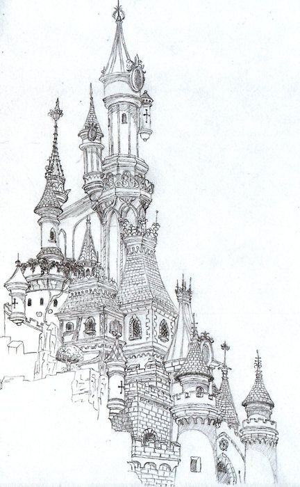 Pin By Yumiko Kumagai On Disney Castle Drawing Architecture Drawing Art