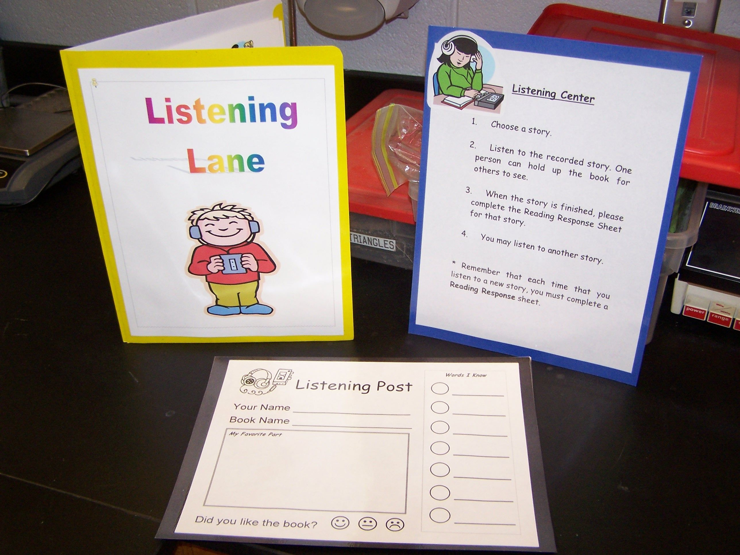 Listening Center Good Response Sheet