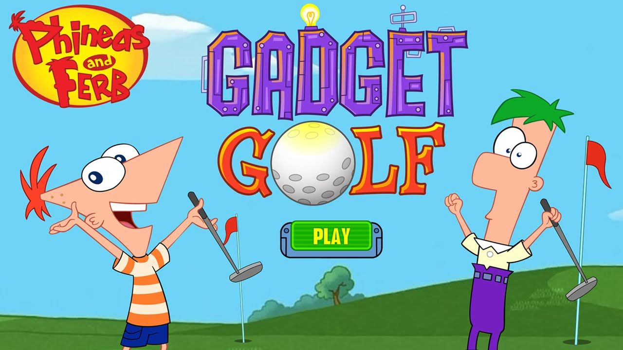 2 player phineas and ferb golf games