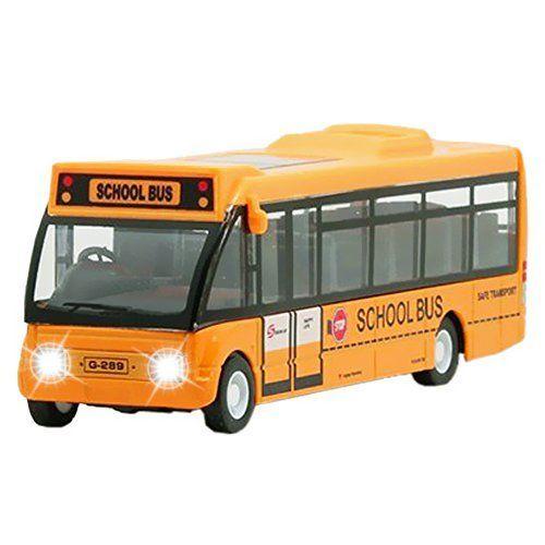 Alloy City Bus Toy Model Car Light Music For Baby Playing Toy Model Cars Light Music Car Model