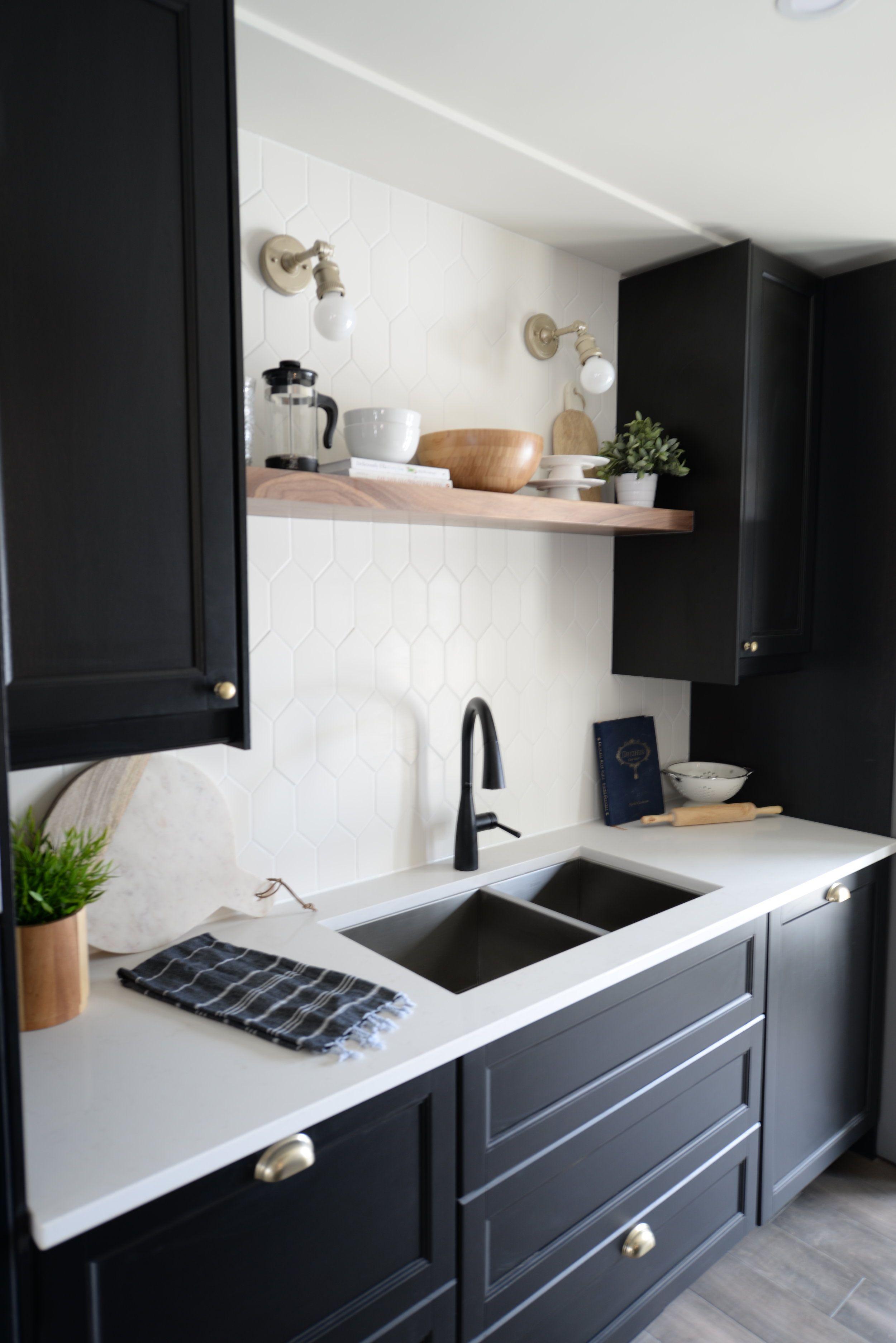 Beautiful Minimalist Dining Space | Black kitchens ...