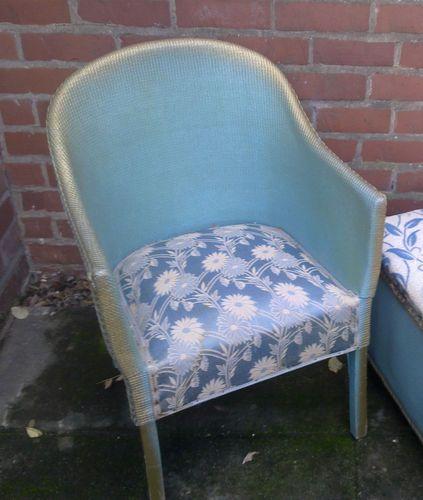 50's Lloyd Loom sprung chair