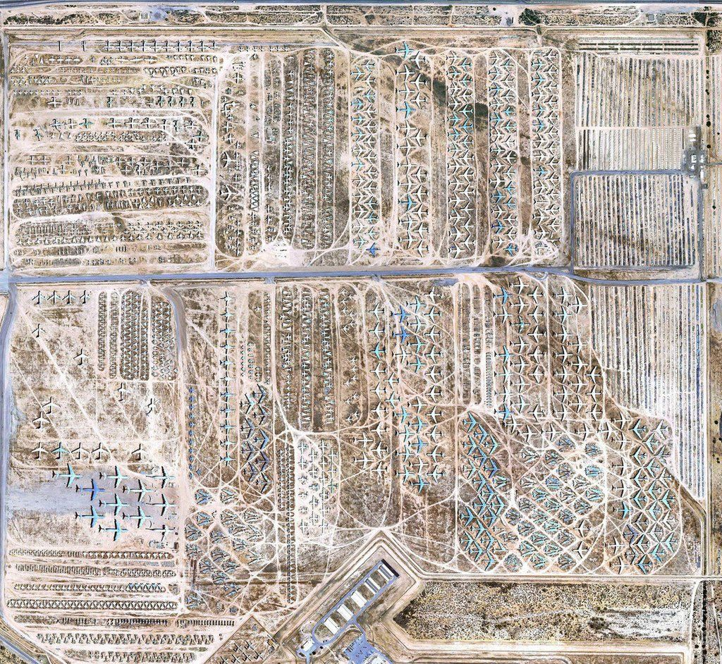 Google Earth View Of The Arizona Airplane Boneyard Con Imagenes